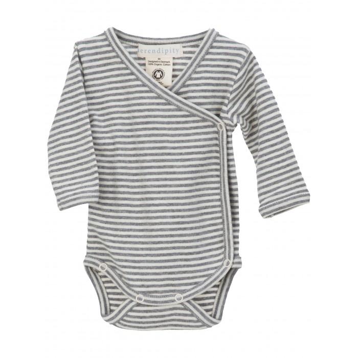 Newborn wrap body - Grey/Offwhite