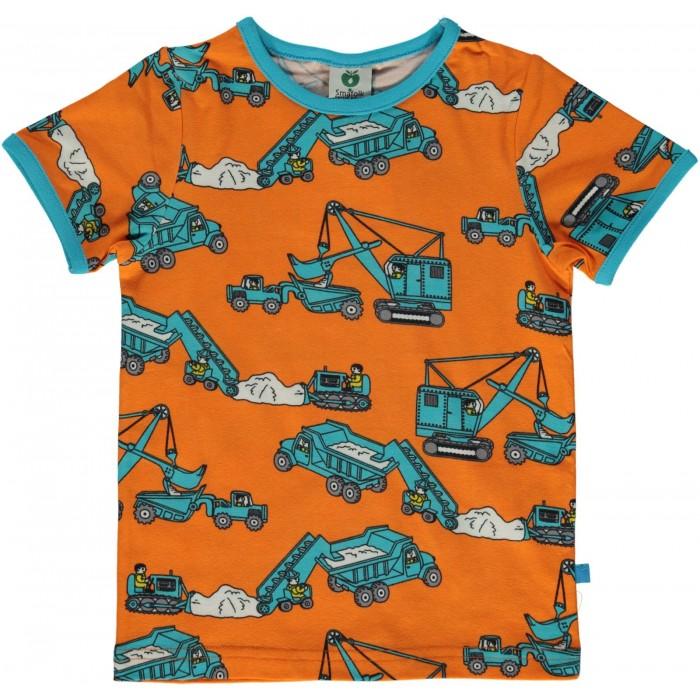 T-shirt with Machines - Orange