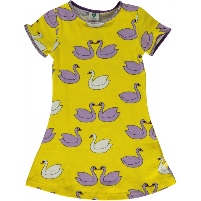 Dress with swan - Yellow