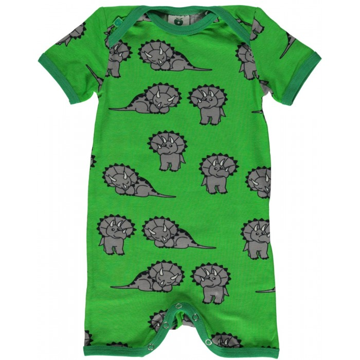 Body Suit with Dinosaur - Green