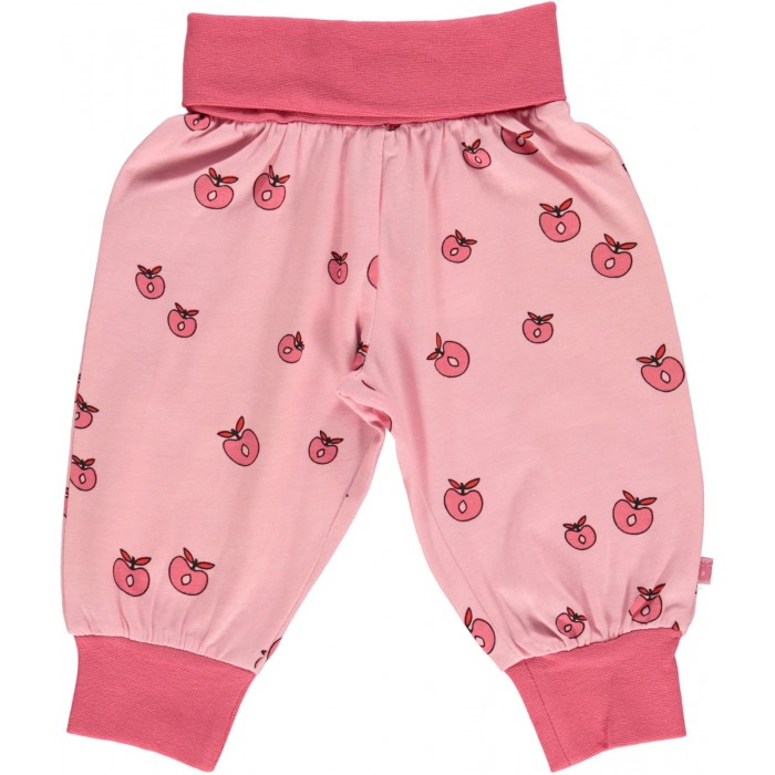 Baby waistband pants with Apple - Sea Pink