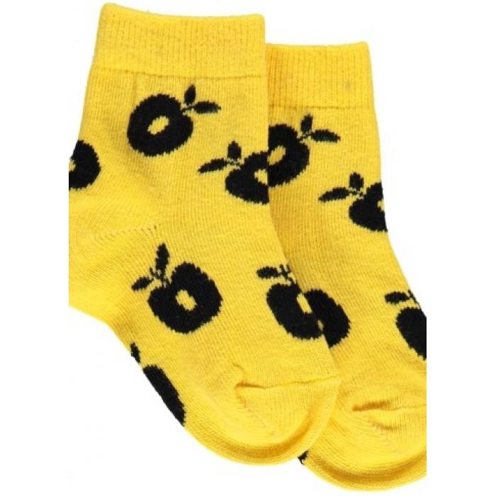 Ankle socks with Apples - Yellow