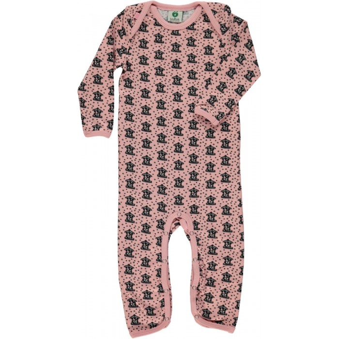 Body Suit with Kenzie's Carousel print - Silver Pink