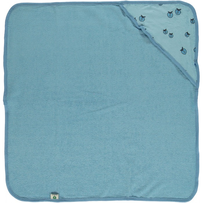 Baby towel with Apples - Air Blue