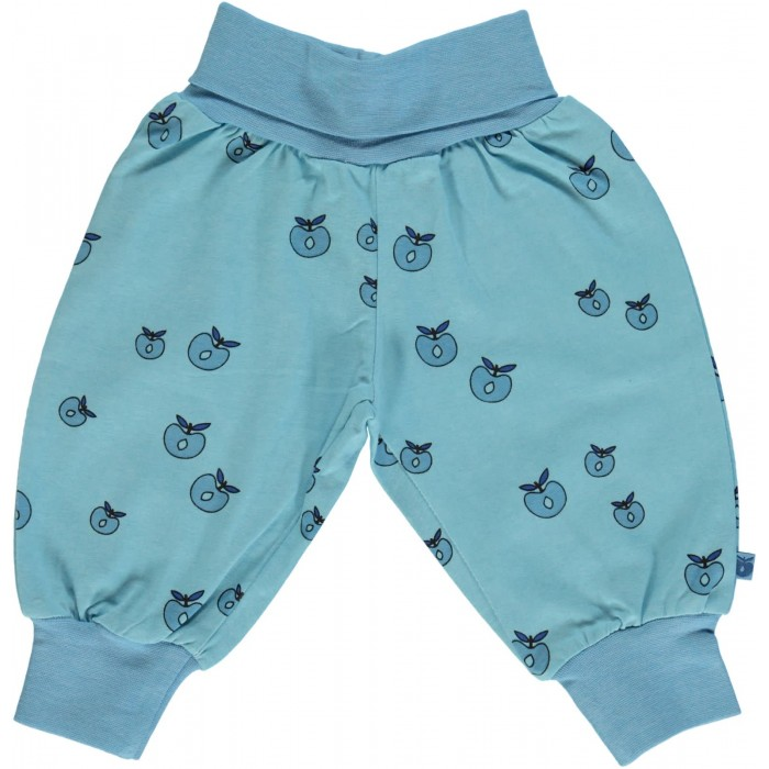 Baby waistband pants with Apple - Air Blue