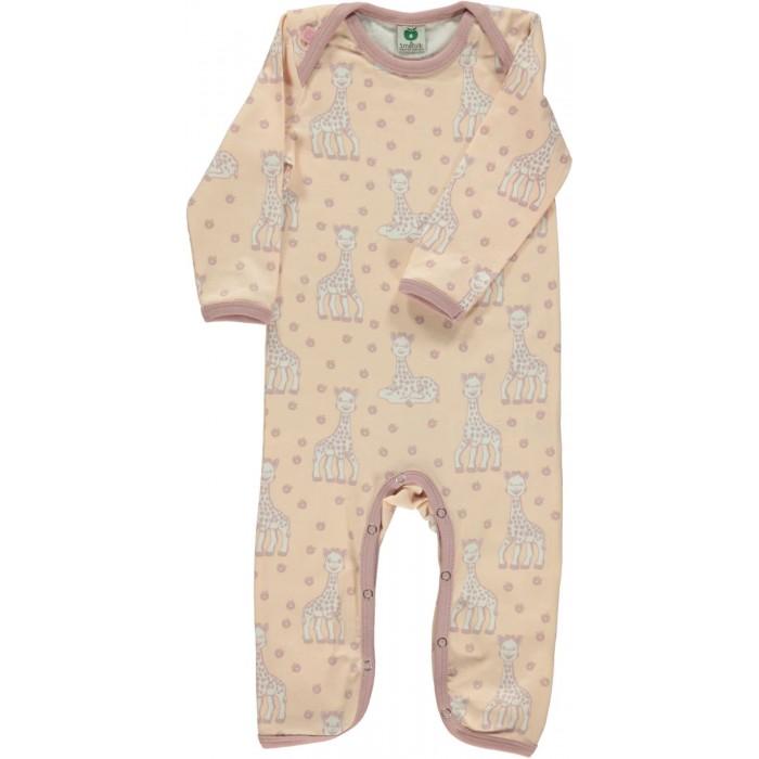 Body Suit with Sophie la girafe - Pale Blush