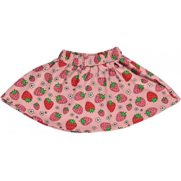 Skirt with Strawberry print - Pink